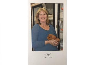 Inge van der Goot 1967 – 2019