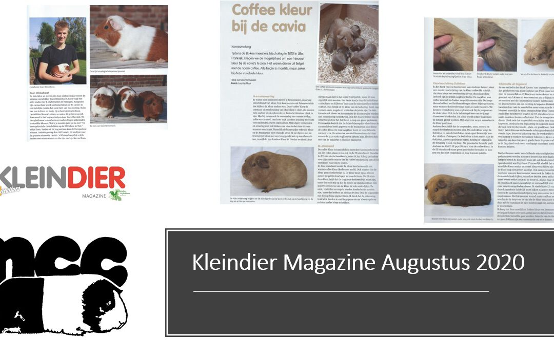 Kleindier Magazine Augustus 2020