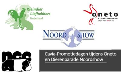Cavia-Promotiedagen tijdens Oneto en Dierenparade Noordshow
