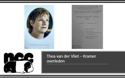 Thea van der Vliet – Kramer overleden