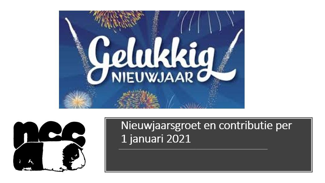 Nieuwjaarsgroet en contributie per 1 januari 2021