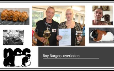 Roy Burgers overleden